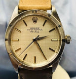 Vintage 1961 Stainless Steel 25 Jewels Swiss Made Rolex Air King Caliber 1560 34 mm