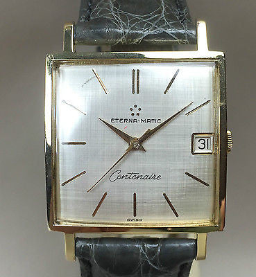 Vintage Eterna Matic  Big Square Automatic - HallandLaddco.com