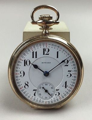 Howard 21 jewels  Size 16  Montgomery Dial  Signed Case - HallandLaddco.com