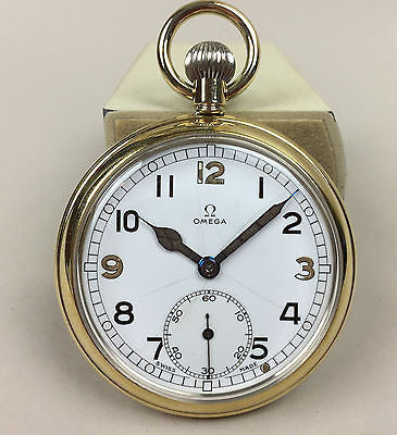Omega Military WWII Pocketwatch G.S.T.P Broad Arrow - HallandLaddco.com