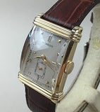 vintage movado watch 14k solid gold swiss dial mens rare wind manual - HallandLaddco.com