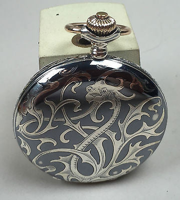 W. Becker & Co.  Niello Silver Dragon Case - HallandLaddco.com