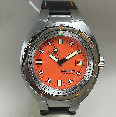 Doxa Sub 300T Professional   Orange Dial   No. 283 of 1000 - HallandLaddco.com