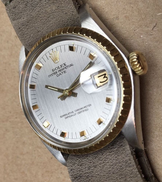 Rolex Date  Stainless Steel and 18k  Ref. 1505  Automatic cal 1570 - HallandLaddco.com