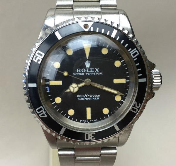 1970's Rolex Comex 5513 Submariner Very early Model - HallandLaddco.com