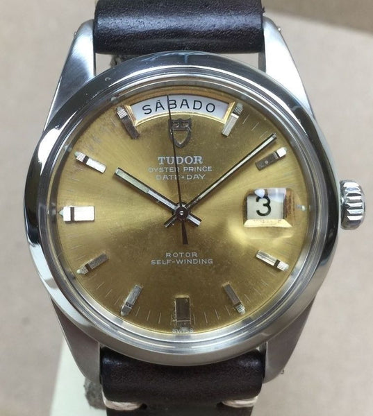 Vintage Tudor Day Date  Ref. 7017/0  Color Change Dial   Huge Oversized Case - HallandLaddco.com