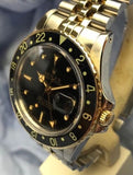 Vintage 1979 Rolex GMT Master 16750 Movement 3035 Watch in 18K Gold