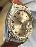 1980 Men's Vintage Rolex Datejust with Diamond Bezel, 36mm Case, Movement Cal. 3035, Ref. 1600 Wristwatch