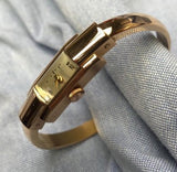 Vintage 1950's Baume and Mercier Geneve 18K Rose Gold Ladies Bangle Bracelet Watch