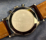 Vintage 1950s Wittnauer Chronograph Stainless Steel Alligator Strap 35.5mm x 44mm Case Watch