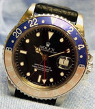 1991 Rolex GMT Master ii Faded Pepsi Bezel 40mm Wristwatch