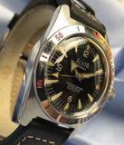 Alsta 17 Jewels 666ft Deep Watch w/ Divers Bezel from 1970's - HallandLaddco.com
