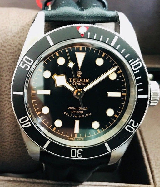 Tudor Black Bay Submariner with Box and Papers - HallandLaddco.com