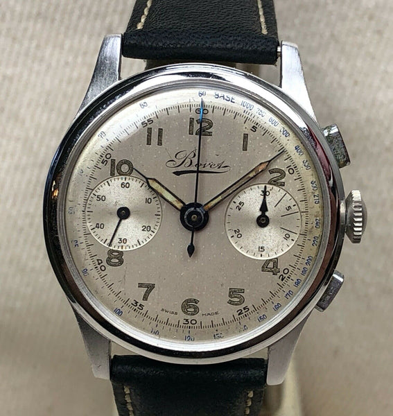 vintage Bovet 1940s chronograph  watch