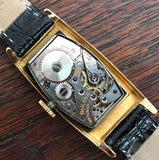 Vintage Bulova Tank, 17 jewels, 7ah movement, gold fill from 1940's - HallandLaddco.com
