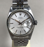 1978 Vintage Rolex Oyster Perpetual Datejust Ref. 16014, Plastic Crystal Quick Set Date Wristwatch - HallandLaddco.com