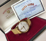 Circa 1968 Favre Leuba Harpoon Wristwatch Box and Papers (Listed for charity) - HallandLaddco.com