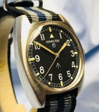 Vintage Hamilton W10 RAF Military Watch with 20mm Nato Strap - HallandLaddco.com