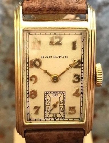 Hamilton Sherwood with 14k Solid Gold from 1940's - HallandLaddco.com