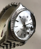 1981 Rolex Datejust IBM Quarter Century Club Plastic Quick Set Wristwatch - HallandLaddco.com