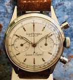 Girard-Perregaux chronograph belonged to military officer in 1960's - HallandLaddco.com