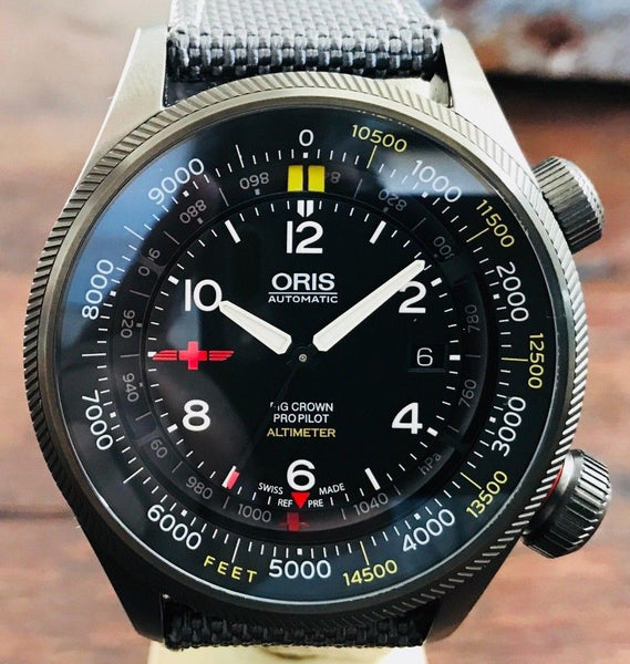 Oris SW200 movement Deep Sea Altimeter REGA limited edition - HallandLaddco.com