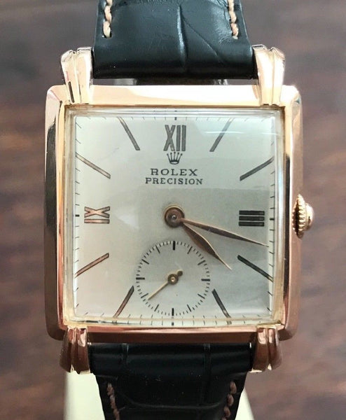 Rolex Precision 18K Rose Gold from 1940's - HallandLaddco.com