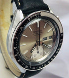Seiko Automatic Day-Date Tachymeter Chronograph 6139 Silver Dial Watch