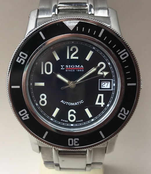 Sigma Automatic Diver Swiss Made Wristwatch - HallandLaddco.com