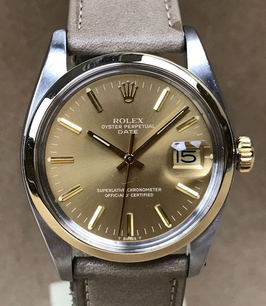 Circa 1979 Rolex Oyster Perpetual Date with 18K Solid Gold case - HallandLaddco.com