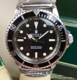 1970 Vintage Rolex Submariner ref. 5513 Box and Booklet US Navy Wristwatch - HallandLaddco.com