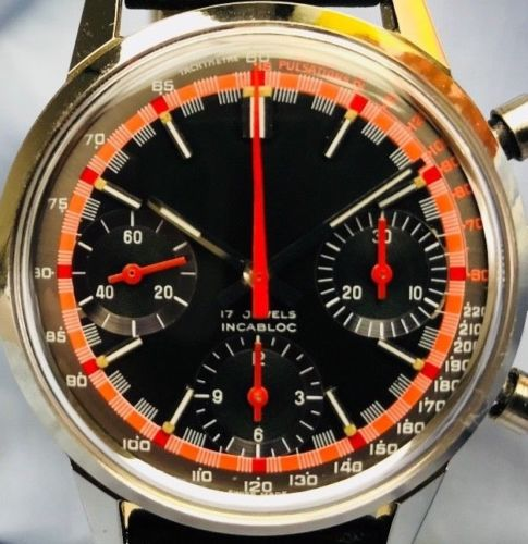 Vintage Valjoux cal. 7736 Mechanical Movement Chronograph Swiss Watch for Sale - HallandLaddco.com