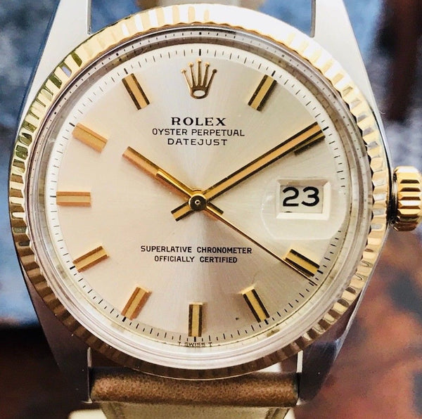 Rolex Datejust Wide Boy Cal. 1570 reference 1601 from 1968 - HallandLaddco.com