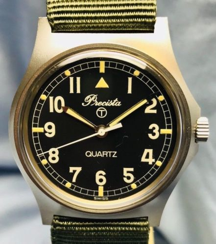 Vintage 1984 Precista Quartz Military Watch - HallandLaddco.com