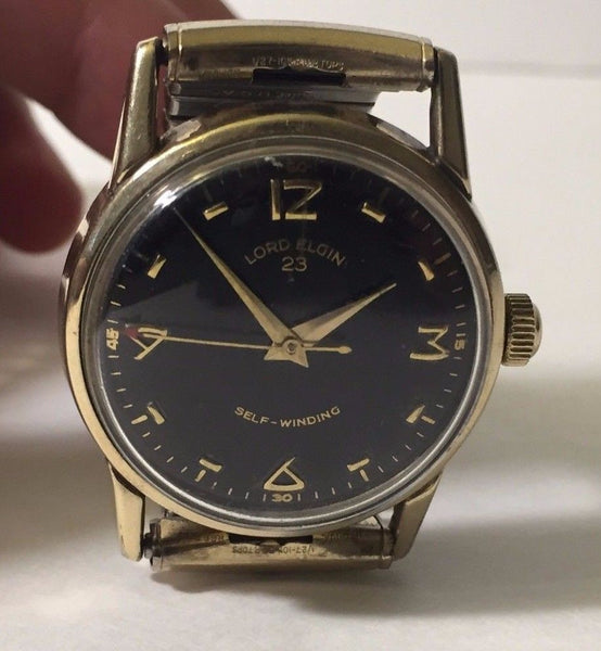 Lord Elgin 23 Jewels 654 Durapower Circa 1960's - HallandLaddco.com