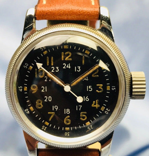 Waltham Type A-17 Military WWll Pilot's Swiss Made Watch - HallandLaddco.com
