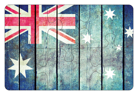 JIGSAW COASTERS Aus Flag 6pc