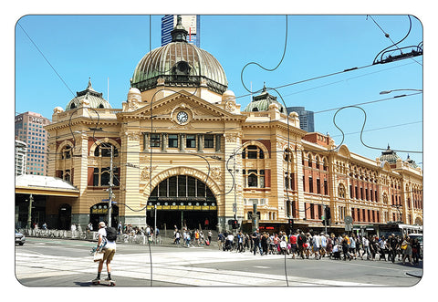 JIGSAW COASTERS Flinders Street Station 6pc