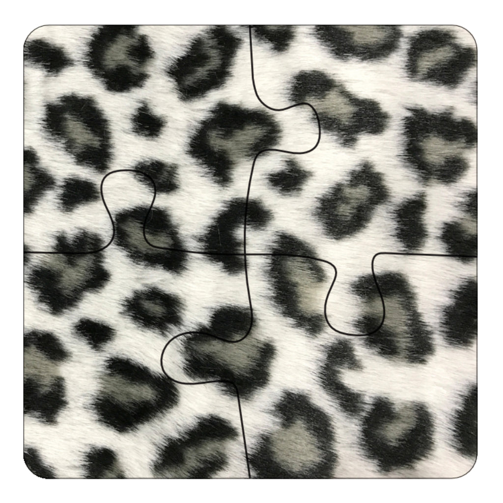 JIGSAW COASTERS Leopard 4pc