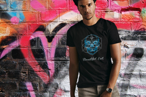 Beautiful Evil black men's fitted t-shirt