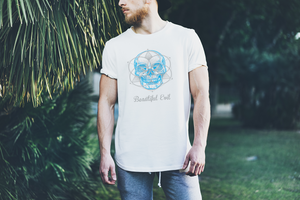 Beautiful Evil White fitted men's t-shirt