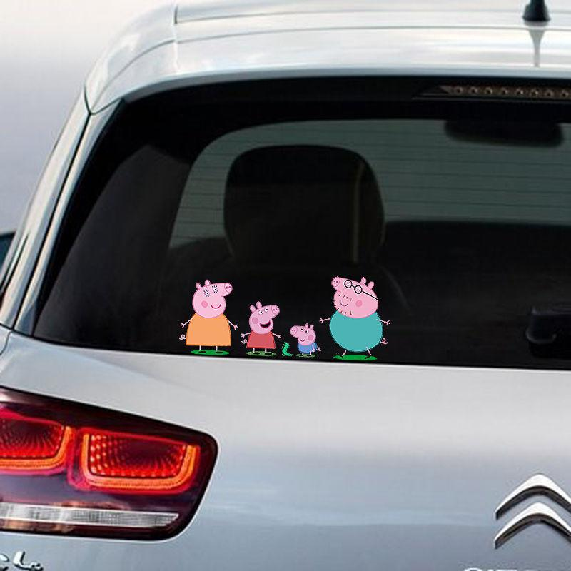 Peppa pig gang full colour vinyl decal window sticker car bumper gift present
