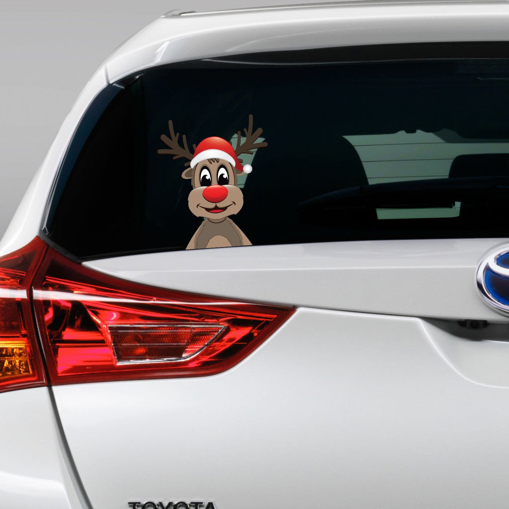 Reindeer on board funny joke novelty car bumper window sticker decal colour large