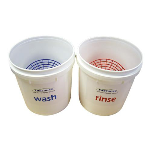 Wash Buckets with Grit Guards