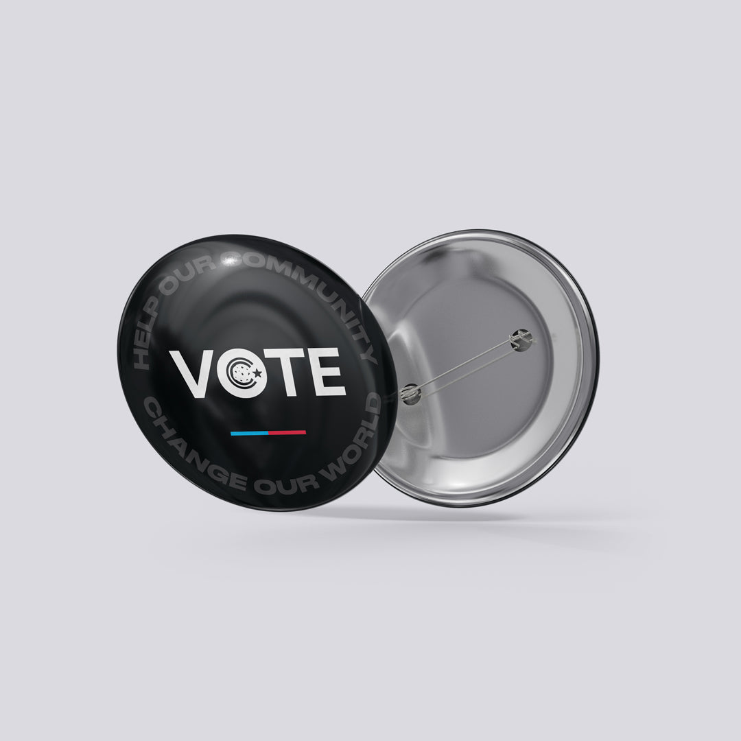 "Choreo Cookies ""Vote"" Pinback Button"