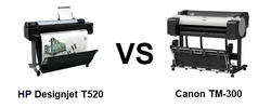 Comparing the HP T520 vs Canon TM-305 Large Format Printer
