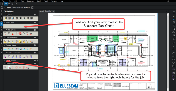 Using Custom Bluebeam Tools