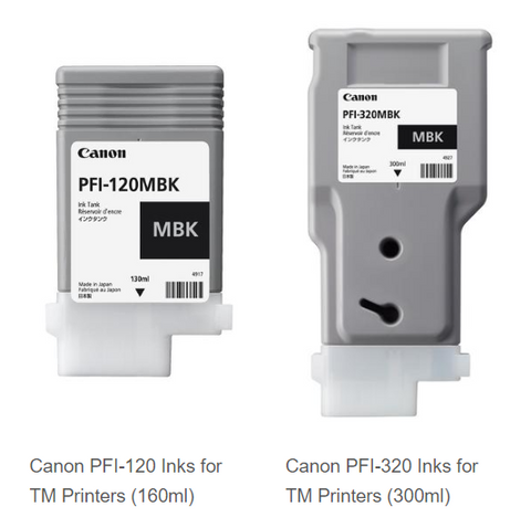 Inks for Canon TM 300 and 305 large format printer