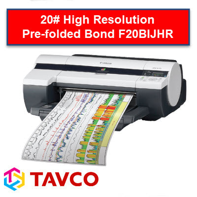 Folded Printer Paper - Well Log - 20LB High Resolution Inkjet Rolls - F20BIJHR90300R6 - TAVCO