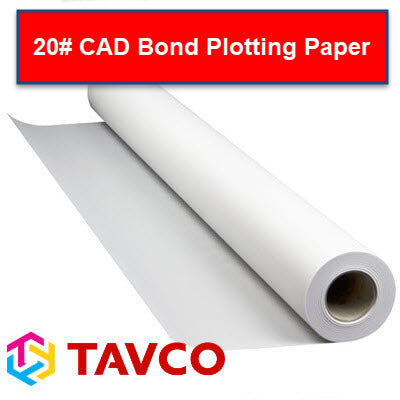 20# CAD Bond Inkjet Plotting Paper - 92 Bright - 20BIJ - 20BIJ22150 - TAVCO